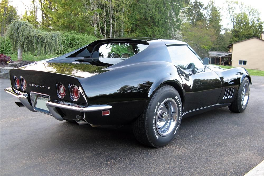 1969 Chevrolet Corvette 2 Door Coupe Rear 3 4 157545