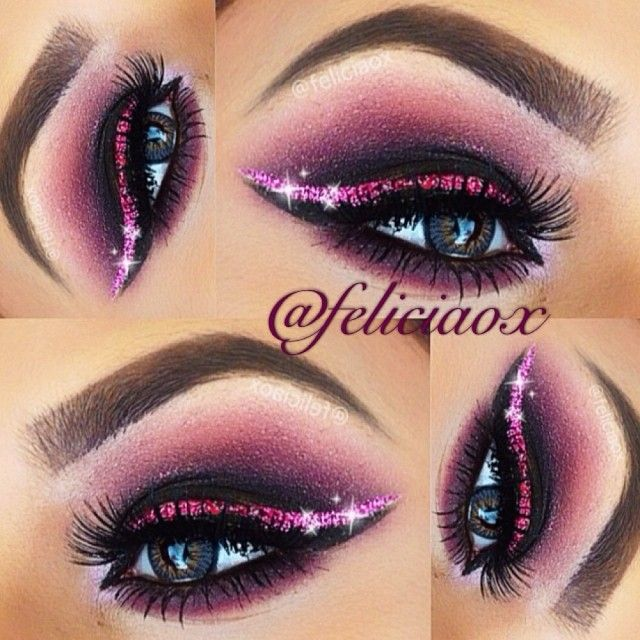 @feliciaox used our Day & Night Palette to create this sparkly eye look.