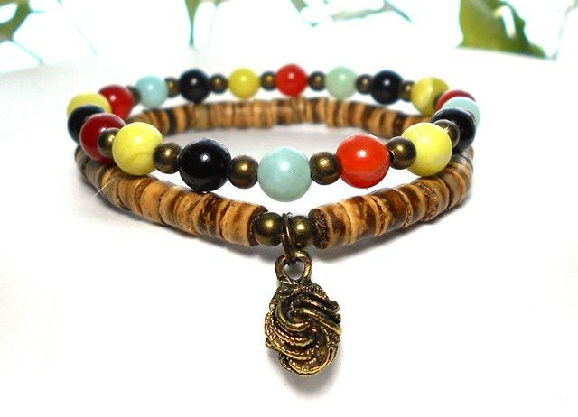 Bohemian Bracelet made with a mix of Gemstones