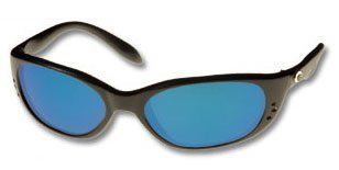 2b30e3ddec Costa Del Mar Stringer Glass Mirror Lens sunglasses Shiny Black with Blue  Mirror lenses by Costa
