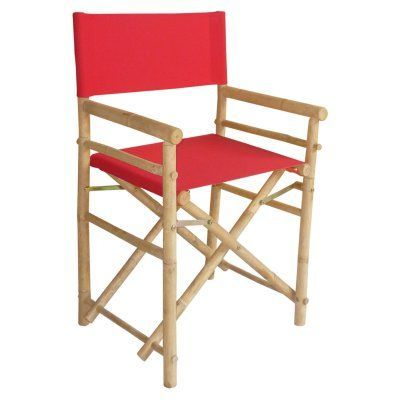 Tremendous Bamboo Directors Chair Canvas Cover Set Red Ac 999 08 Caraccident5 Cool Chair Designs And Ideas Caraccident5Info