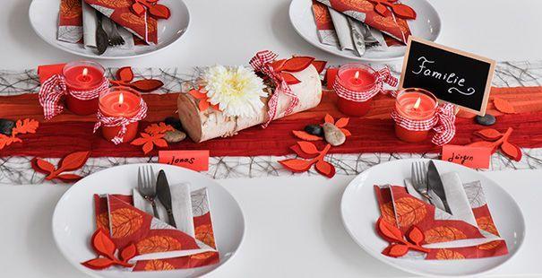 tischdeko herbst rot orange hochzeitsideen pinterest. Black Bedroom Furniture Sets. Home Design Ideas