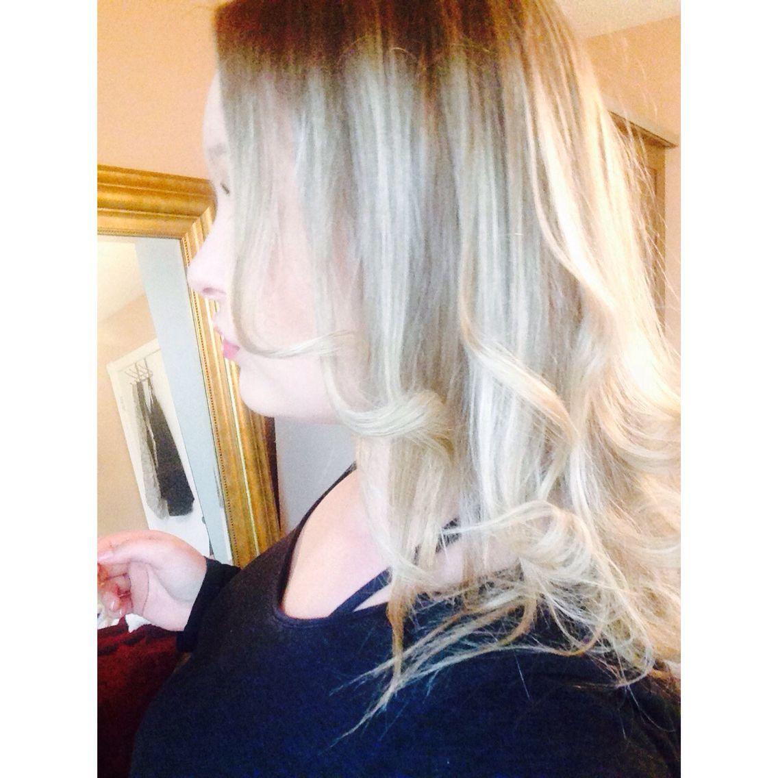 Medium Length Curly Blonde Hair !!