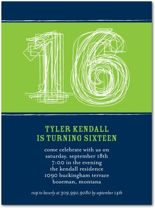 Free Boys 16th Birthday Invitations Other Special 16th