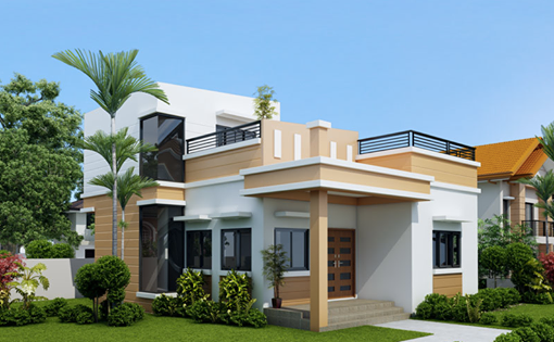 One Storey House With Roof Deck One Storey House Small House Design Bungalow House Plans