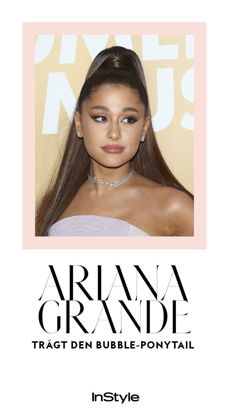 Ariana Grande Tragt Den Frisuren Trend 2019 Bubble Ponytail