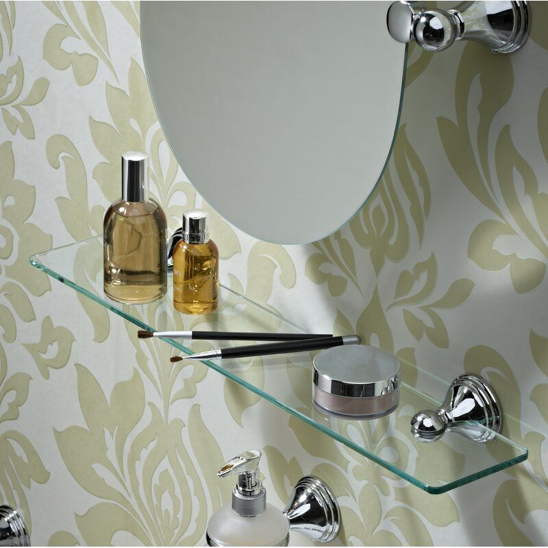 Westminster 50 X 5 7cm Bathroom Shelf In 2020 Glass Wall Shelves