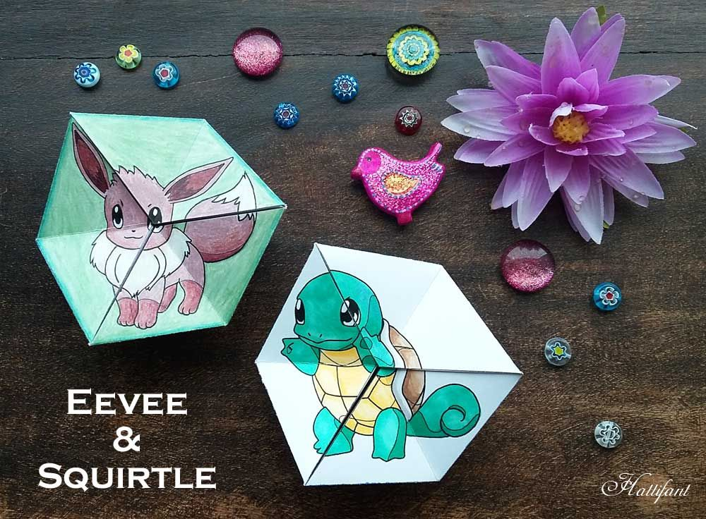 Paper Toys Pokemon Evolution Flextangles Paper Fun