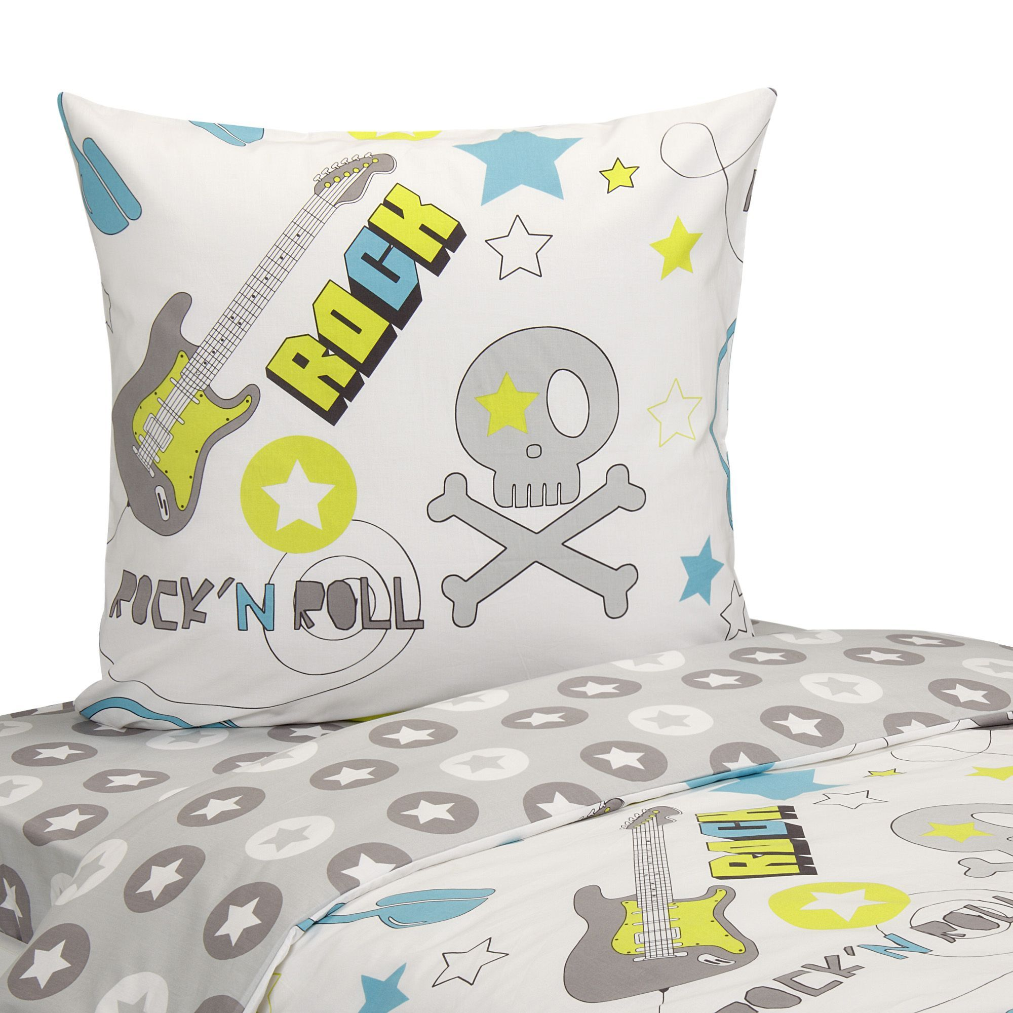 parure de couette pour lit enfant multicolore rock les parures de couette enfants le linge. Black Bedroom Furniture Sets. Home Design Ideas