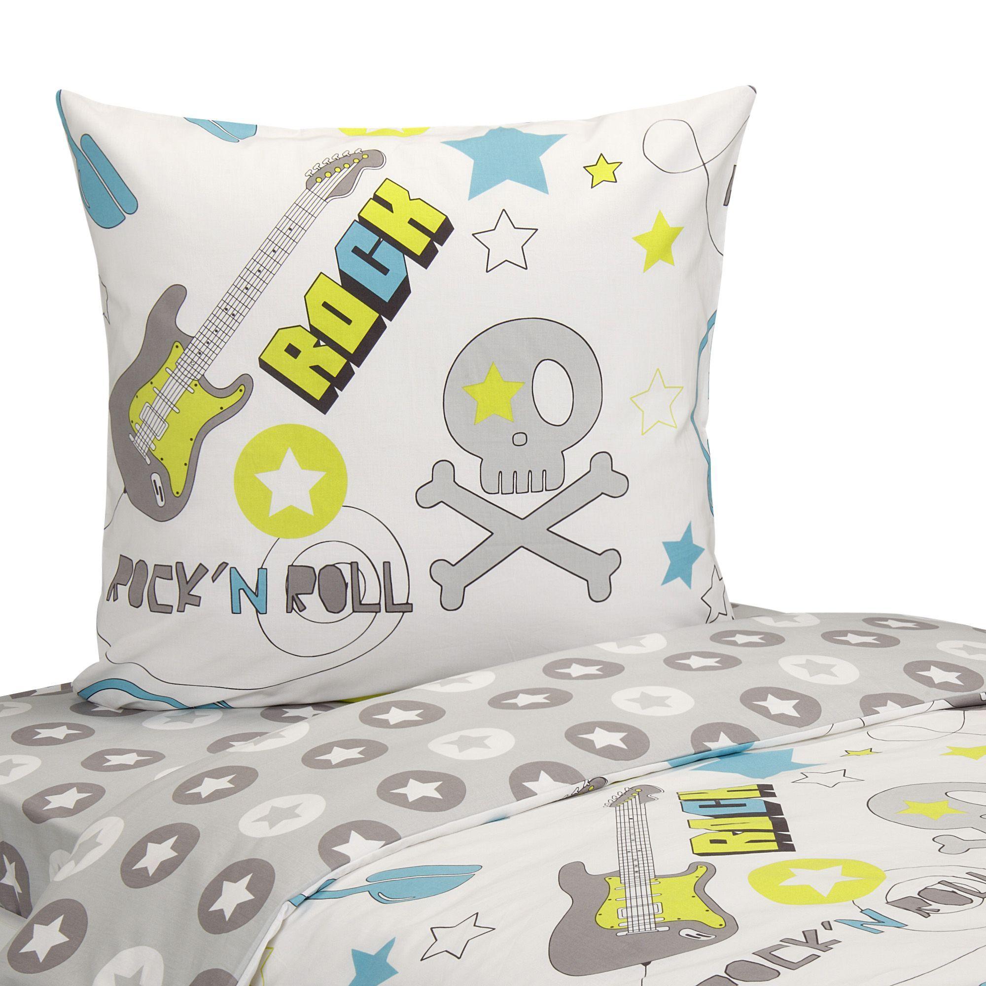 parure de couette pour lit enfant multicolore rock les parures de couette enfants le linge. Black Bedroom Furniture Sets. Home Design Ideas
