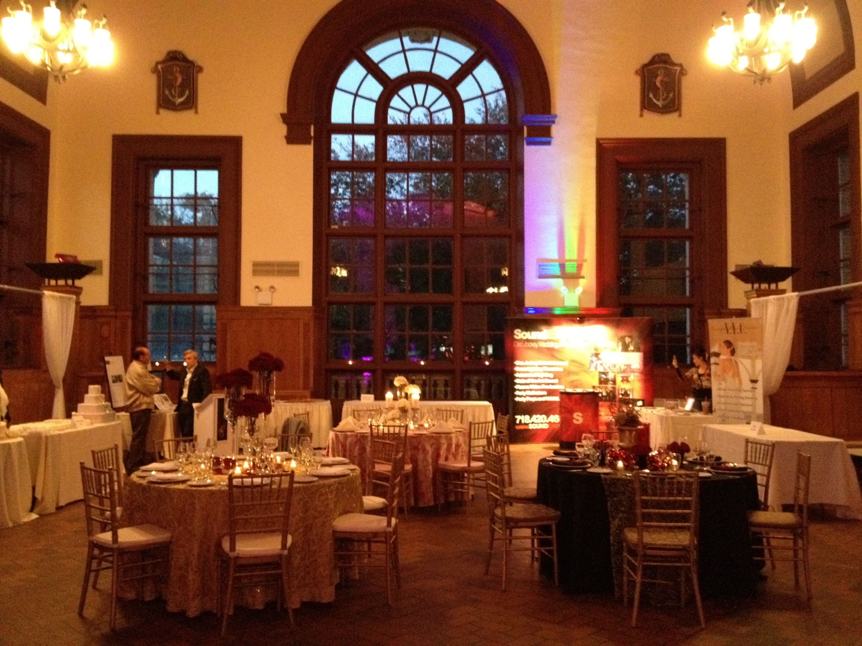 The Great Hall all lit up and setup for the Bridal Show!   Celebrate ...