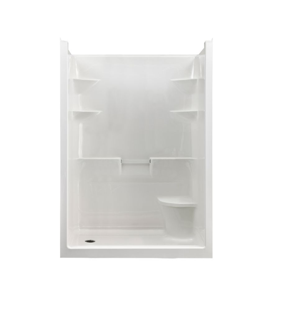 Melrose 5 Acrylic 1-piece Shower Stall With Seat- Right