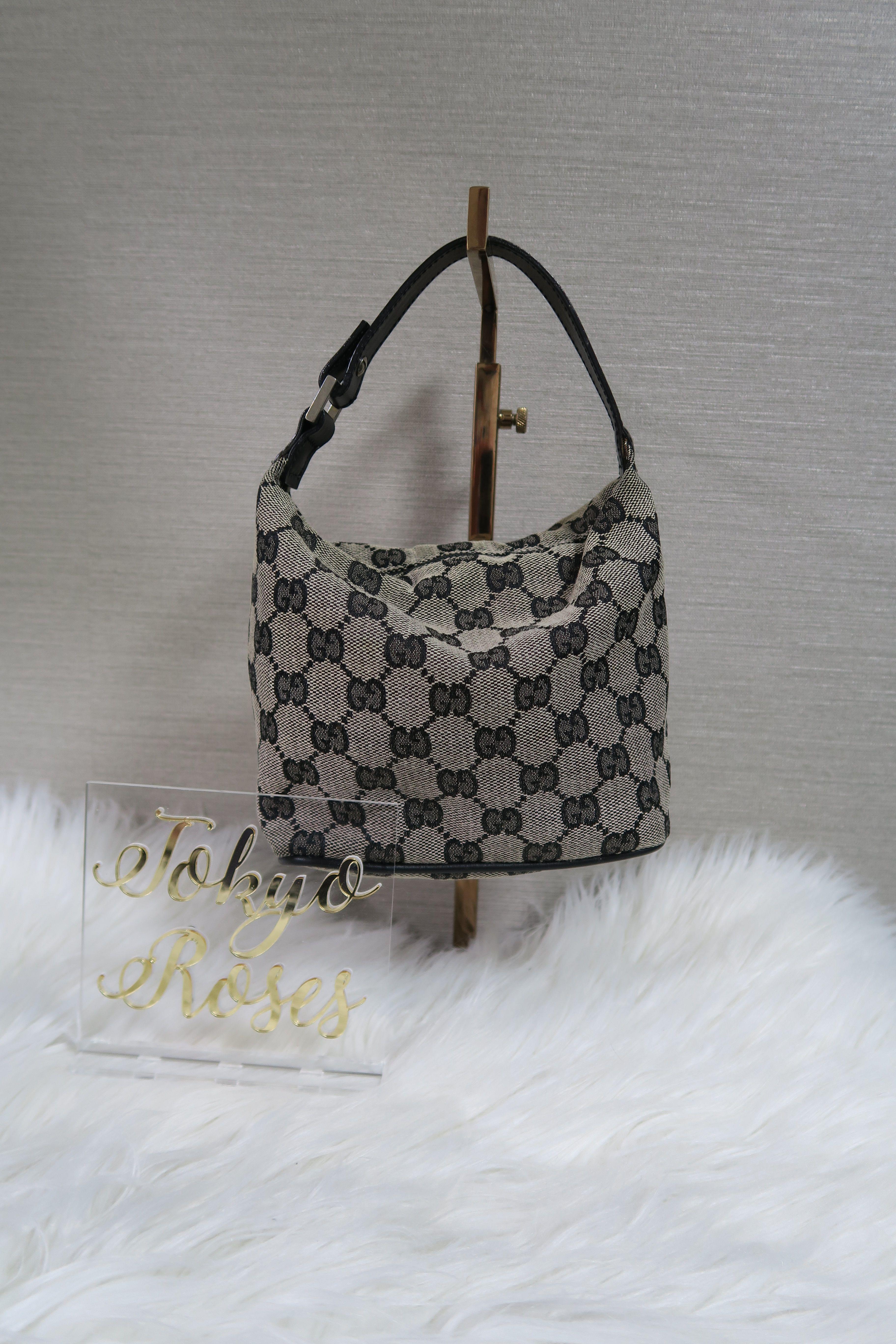 e1990fc29f53 Gucci Grey GG Canvas Small Mini Bag in 2019 | Vintage Gucci | Gucci ...