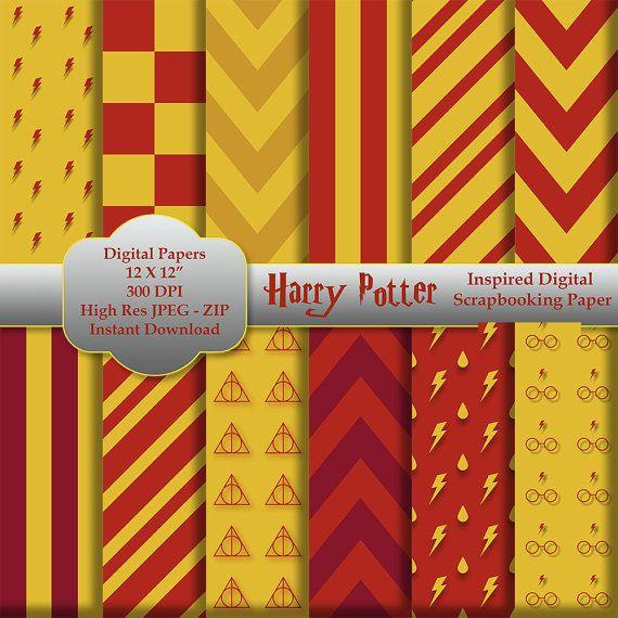 Harry Potter Inspired Digital Scrapbooking Paper By Pixelpurrrfect