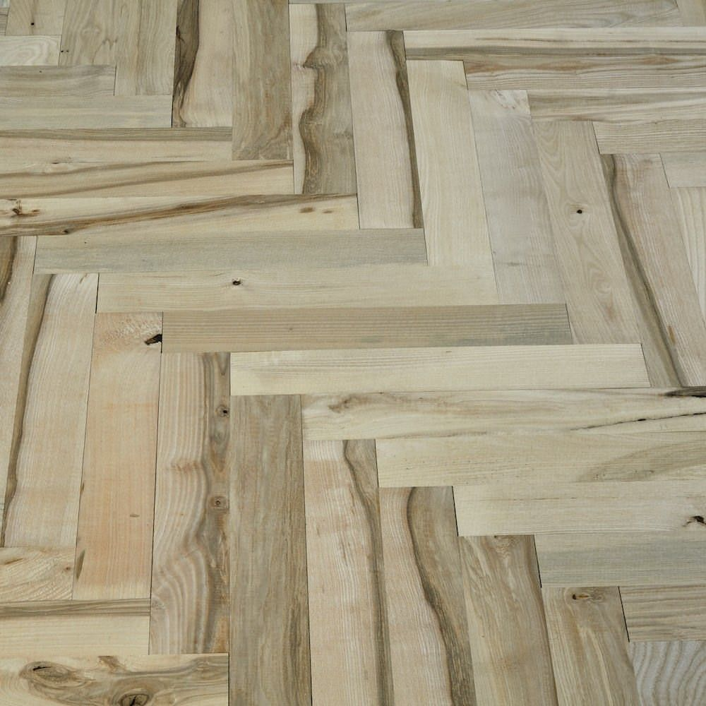 Solid Ash Parquet Unfinished Wood Flooring 4