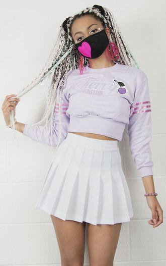 e0444c09aaa1 skirt kozy lookbook kawaii grunge cyber ghetto pleated skirt high ...