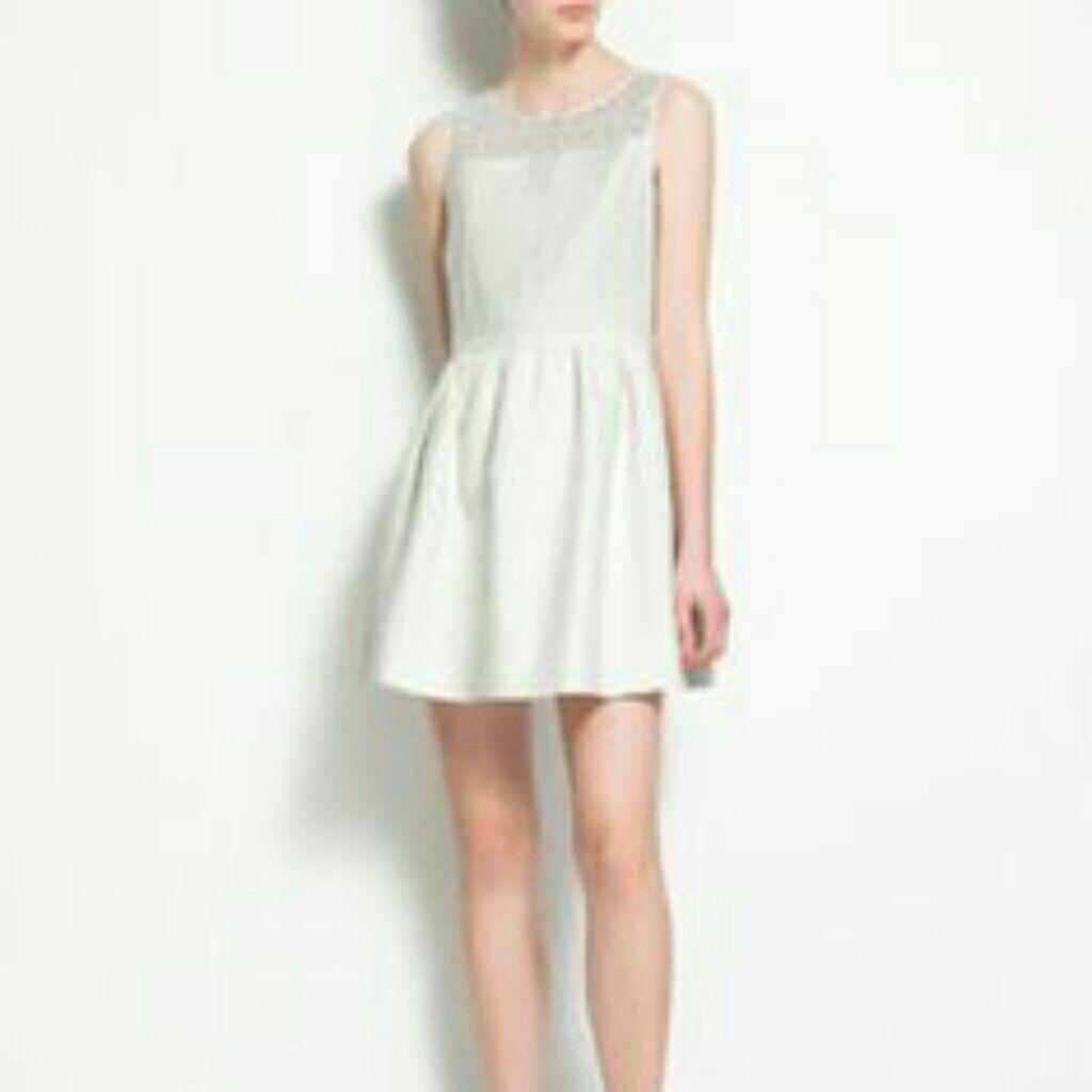 Sale Zara White Cocktail Dress White Cocktail Dress Dresses Tulip Dress [ 1024 x 1024 Pixel ]