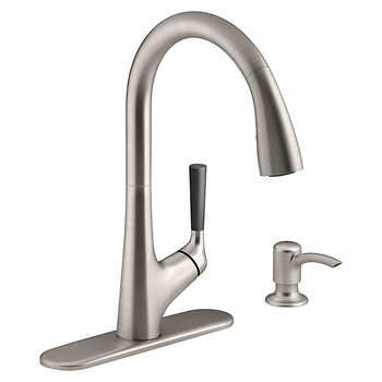 Kohler Malleco Pull Down Kitchen Sink Faucet With Soap