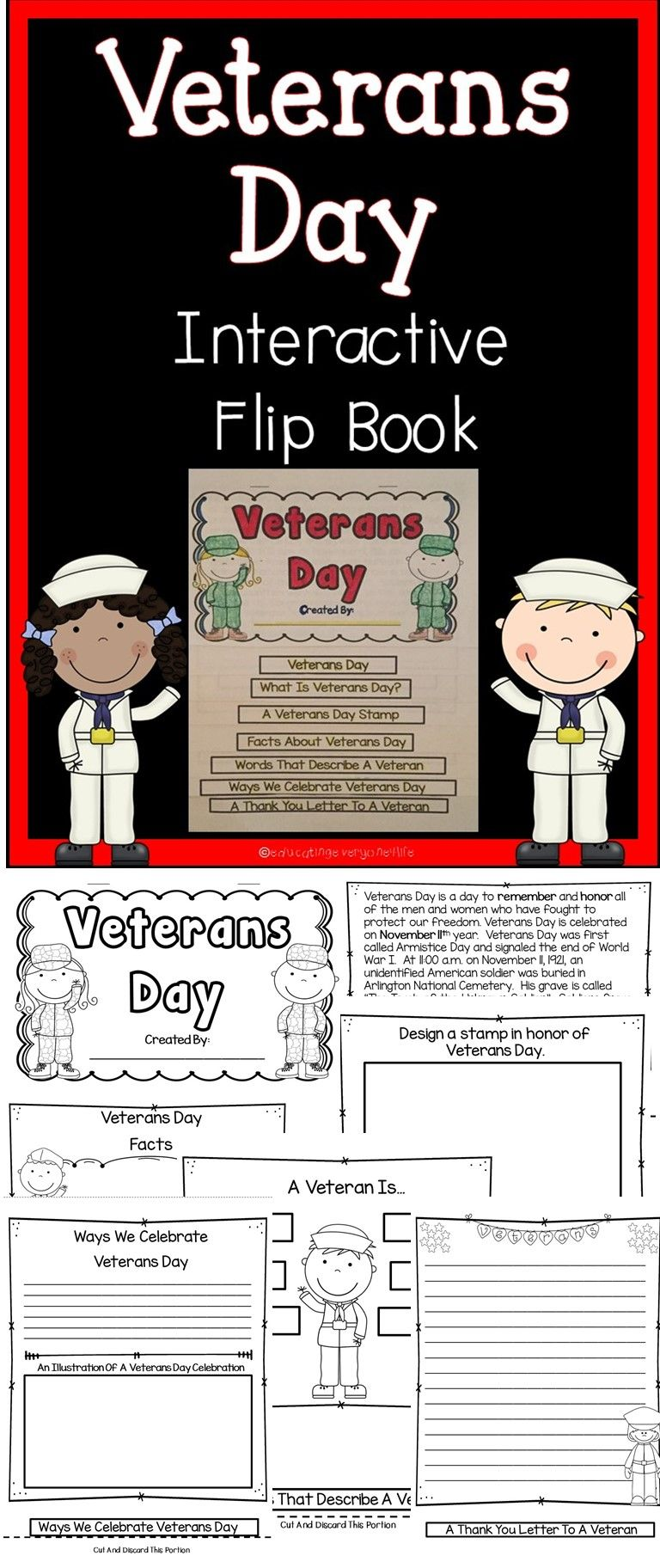 Why is veterans day important - Veterans Day This Veterans Day Flip Book Includes Activities To Engage Students While Learning About