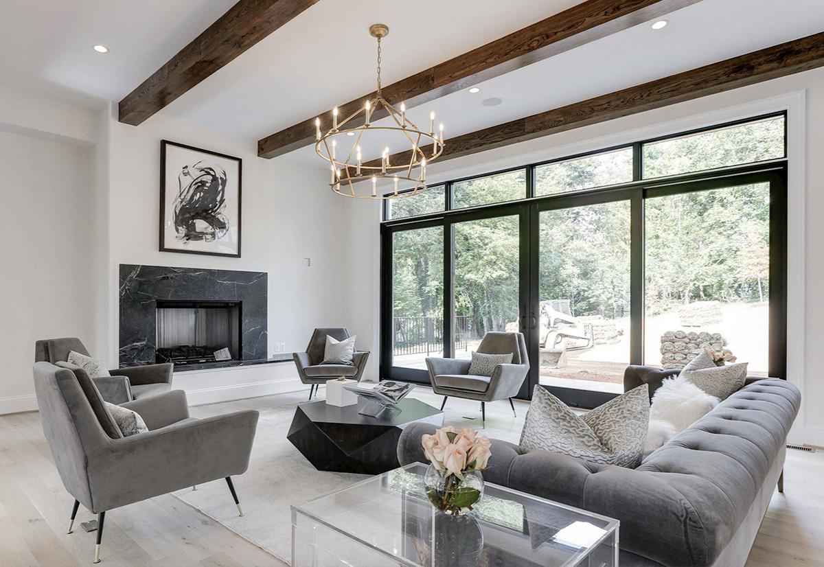 beautiful luxury grey living room decor in modern style