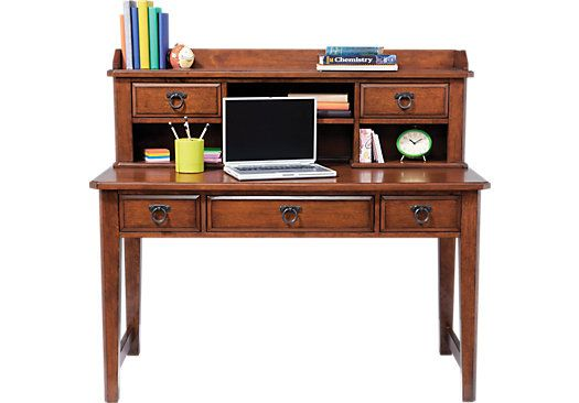 mission oak desk and hutch possibilities pinterest desks dark rh pinterest com Rooms to Go.com Full Bedroom Sets Rooms to Go