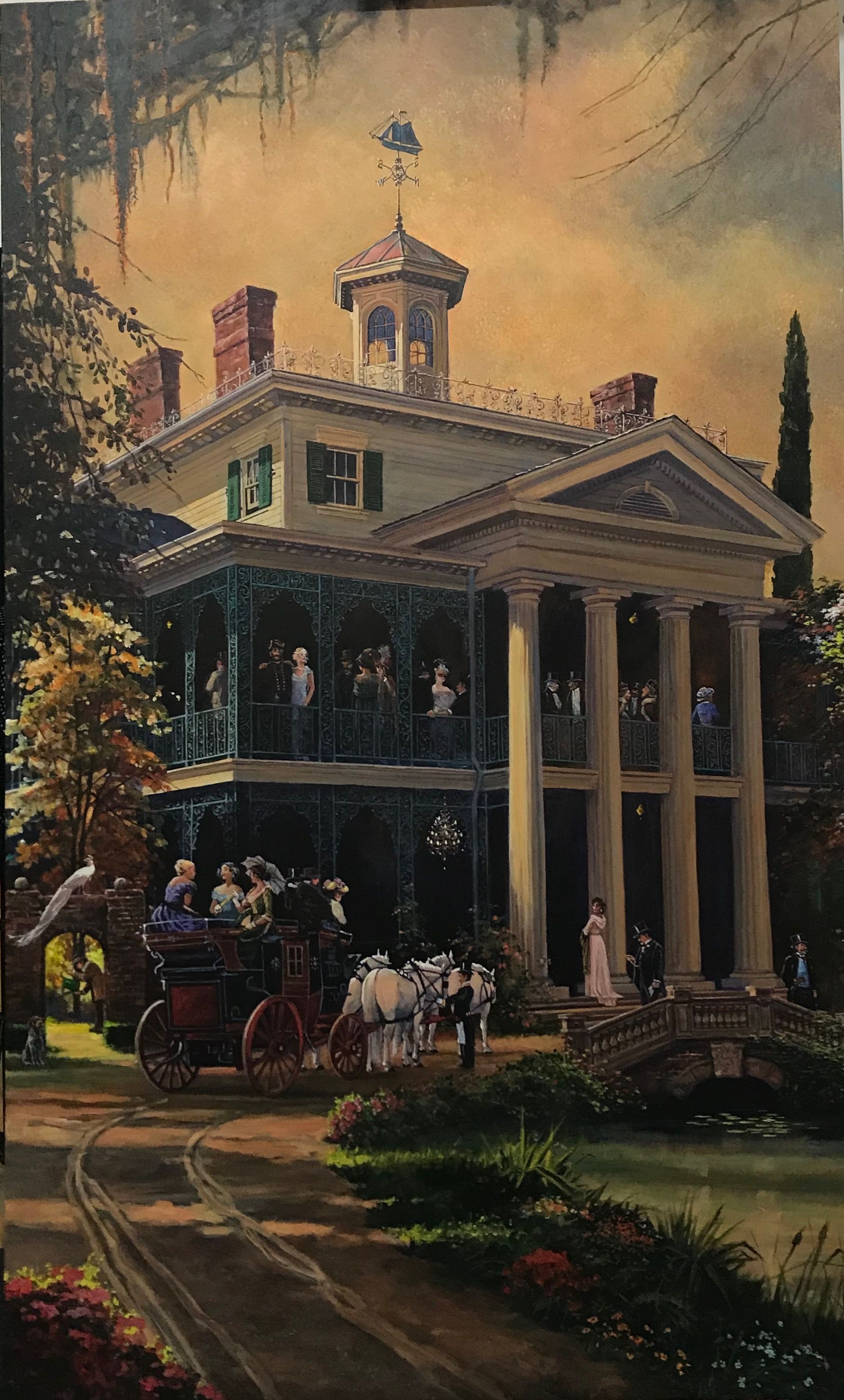 The Guests Arrive By Leslee Turnbull Haunted Mansion Disneyland Haunted Mansion Disney Haunted Mansion