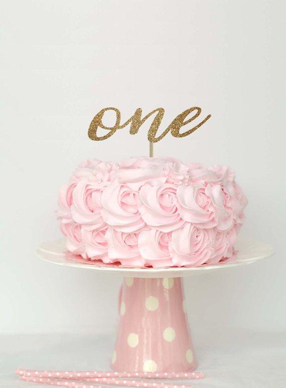 b8d4c854b First birthday cake topper