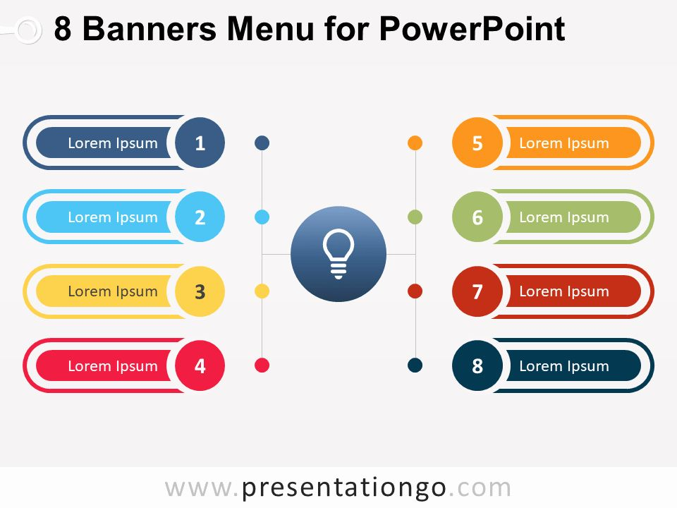 Menu Board Template Powerpoint Awesome 8 Banners Menu for