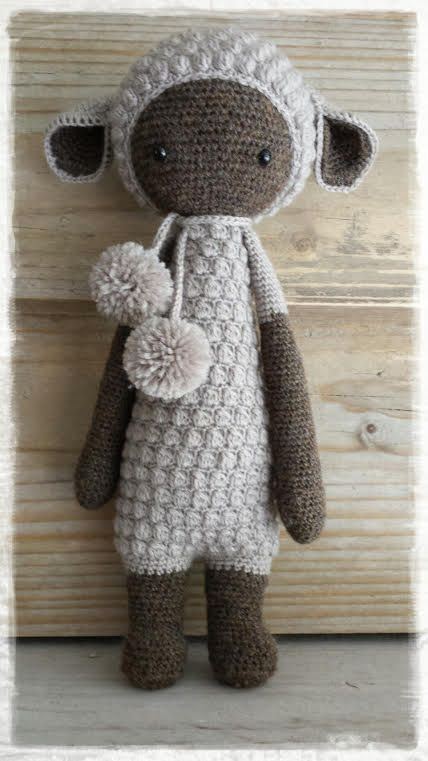 Lupo the lamb made by Els van Sch. / crochet pattern by lalylala