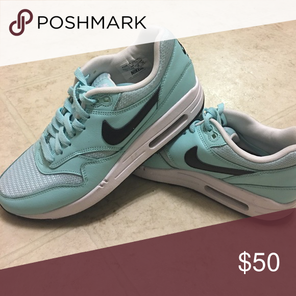 new product 2c69d c5abb Nike Air Max 1 iD Women s Shoe - Mint Mint color, black Nike swoosh and  bottoms. Only worn a handful of times. Practically new and because of that,  ...