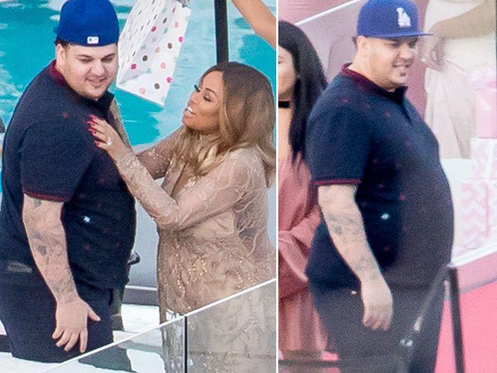 Rob Kardashian U0026 Blac Chyna    Cameras Roll For Baby Shower ... Robu0027s Big  Comeback (PHOTO GALLERY)