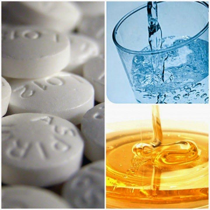 mascara  facial da aspirina e do mel