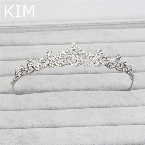 Shiny elegant full rhinestone decorated bridal tiaras hair accessories wedding…