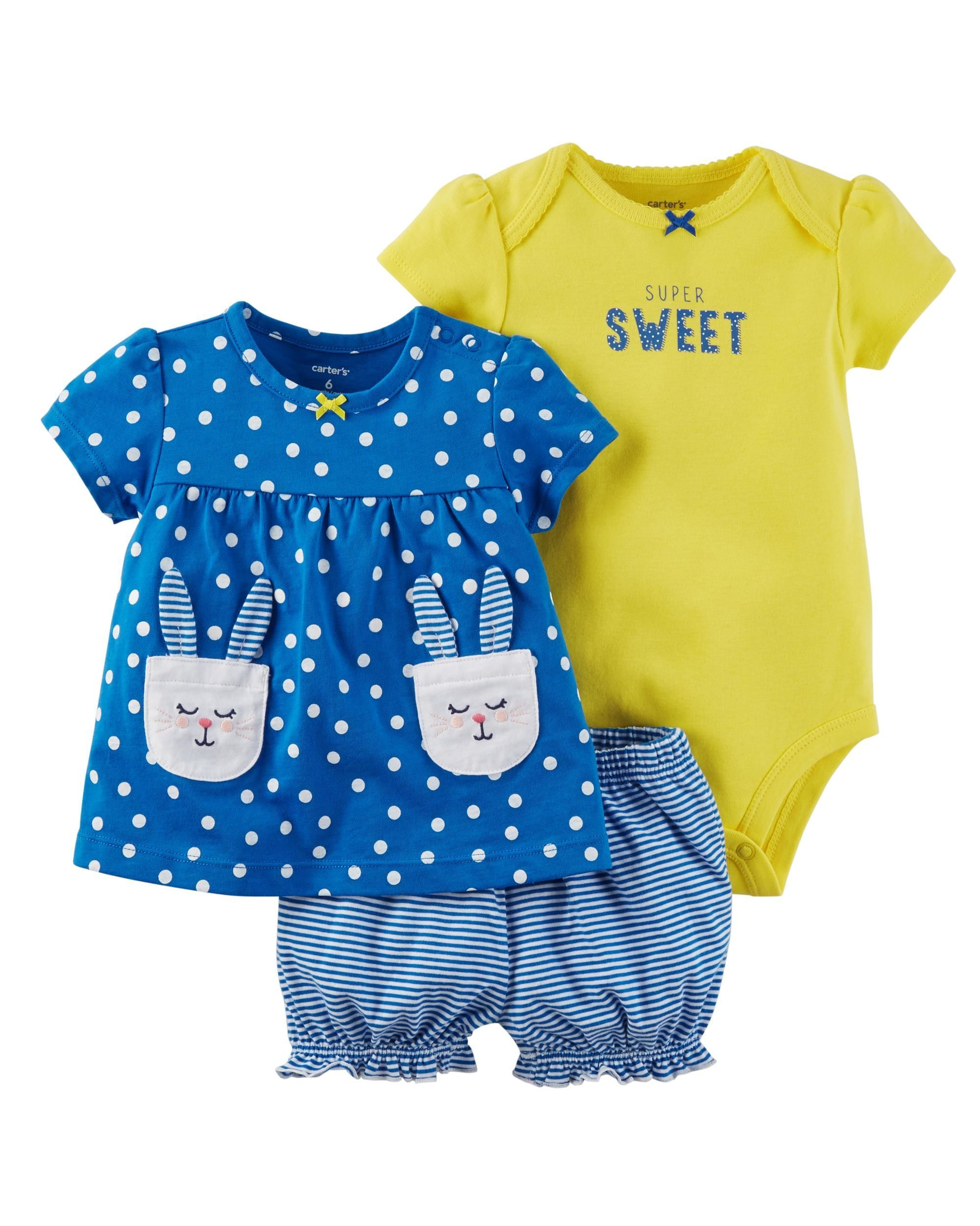 c8223cabe 3-Piece Bodysuit & Diaper Cover Set | Graphics for baby girl