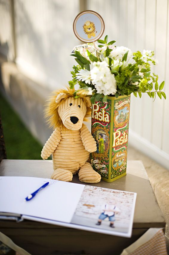 Vintage Lion 1st Birthday Party Karas Party Ideas The Place