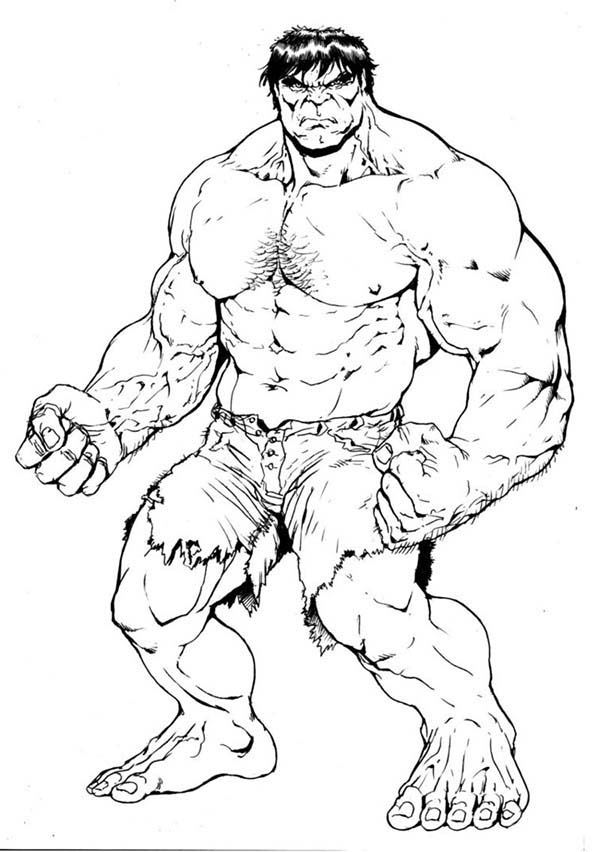 Hulk Ready To Fight Coloring Page Netart Superhero Coloring Superhero Coloring Pages Hulk Coloring Pages
