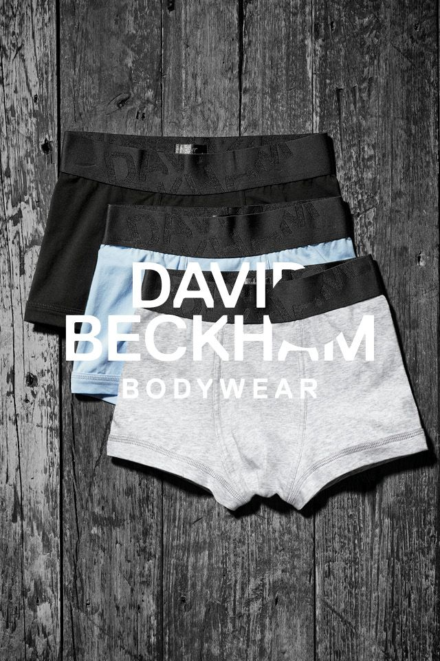 e1c8643e2cdb Boxer shorts 3-pack: black, light blue, and gray. Bodywear Selected By  Beckham collection. | H&M For Men