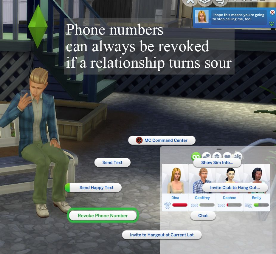 + Unlisted Phone Numbers by scumbumbo. With this mod in ...