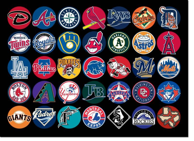 35 Logos Of The 30 Mlb Teams Some Repeating Mlb Team Logos Baseball Teams Logo Mlb Teams