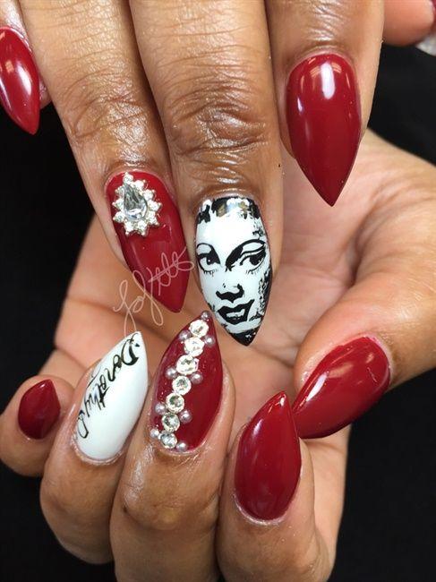 Lavette / Dorothy Dandridge Black History Month - Nail Art Gallery ...