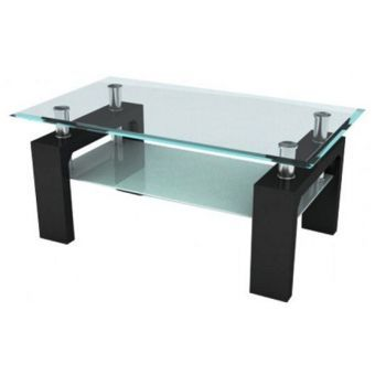La bodega del mueble mesa de centro cristal level for Modelos de mesas de vidrio