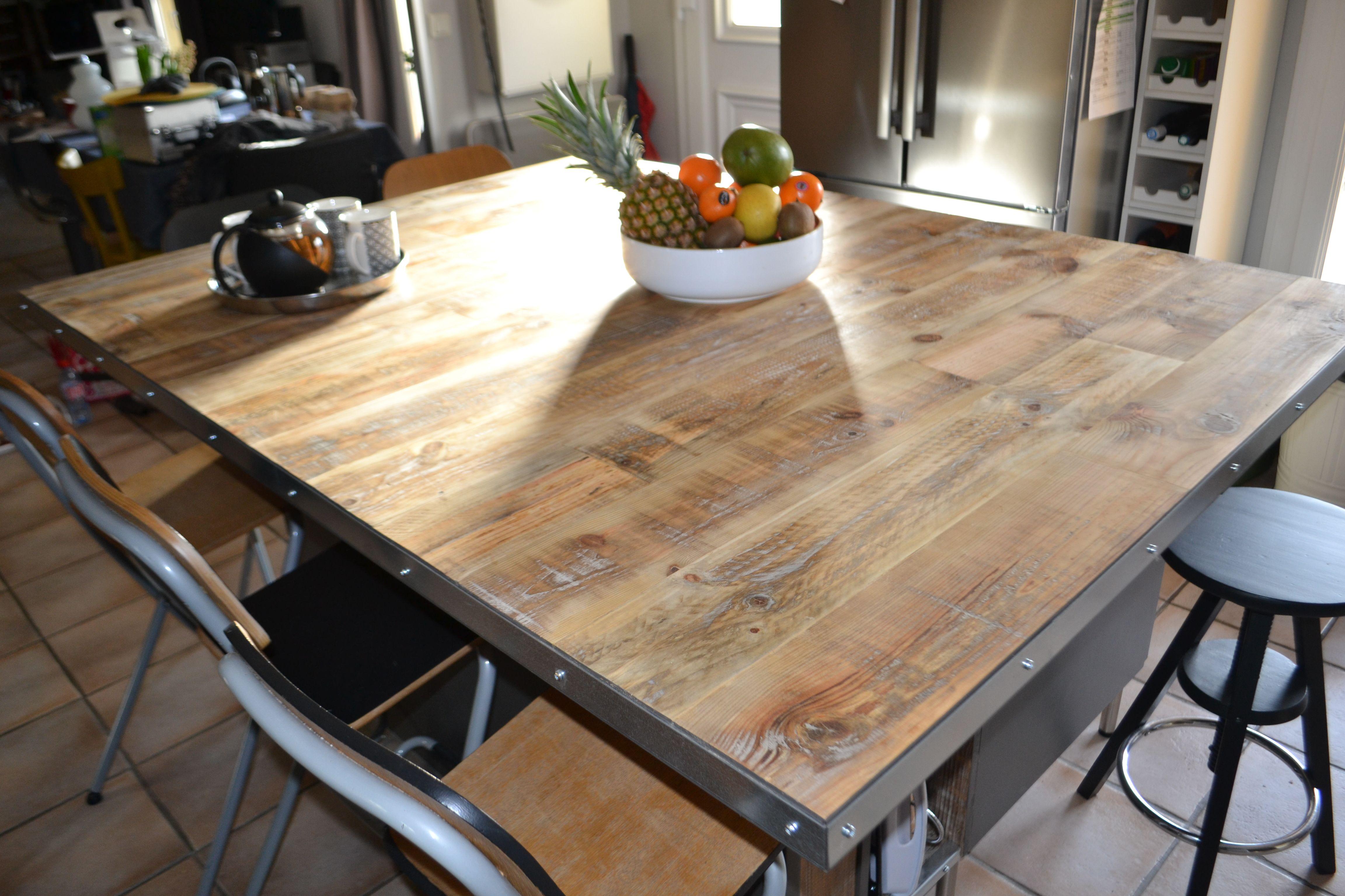plan de travail pour un lot central de cuisine votre. Black Bedroom Furniture Sets. Home Design Ideas