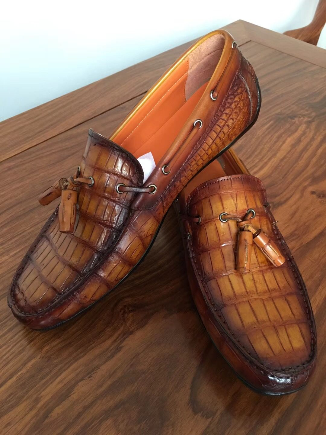 452c78bf62b Handcrafted Men s Alligator Classic Tassel Loafer Leather Lined ...