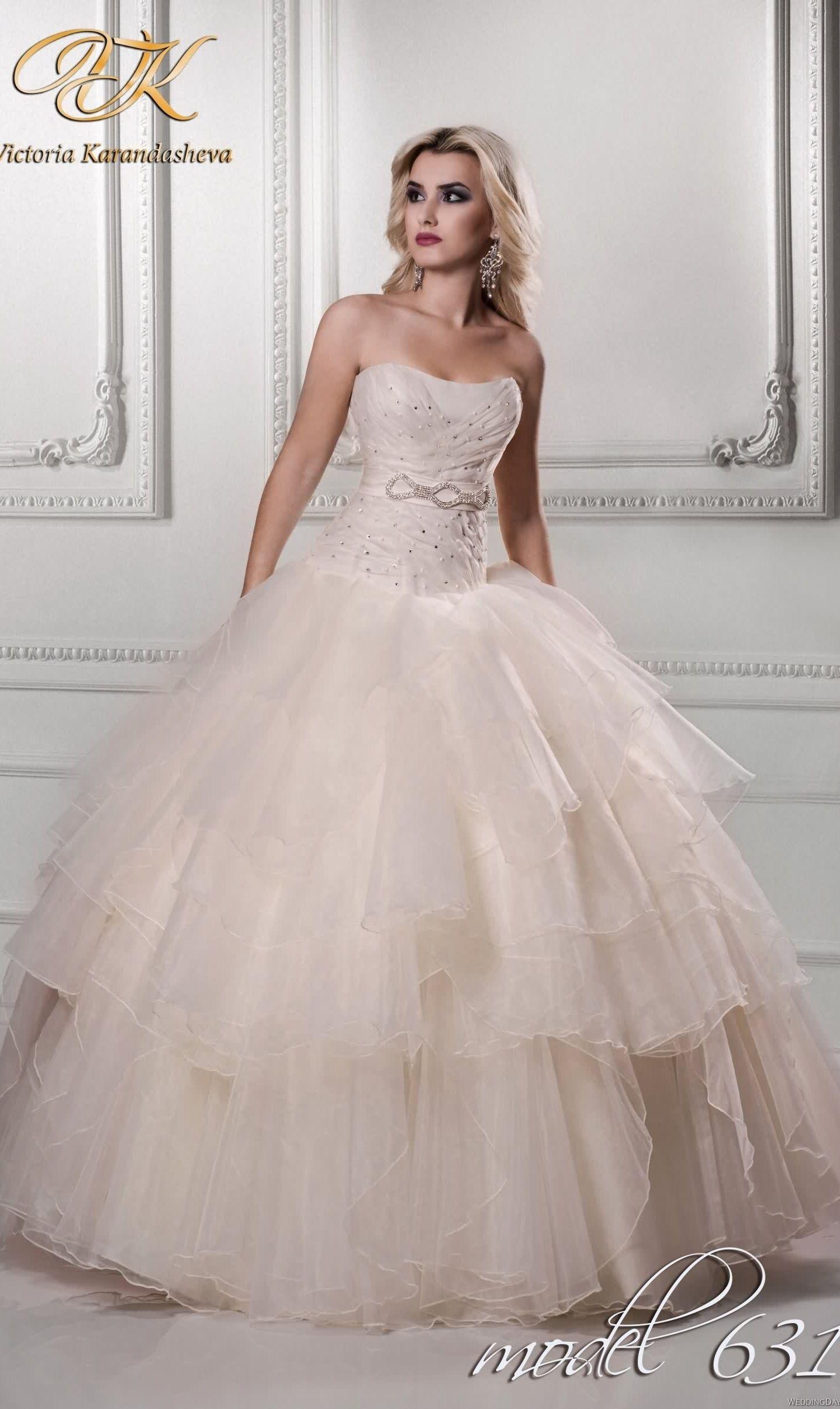 Design your own wedding dress cheap  a pink Cinderella wedding dress from Viktoria Karandasheva  Disney