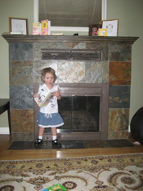 tiled fireplace hearth ideas   SLATE TILE FIREPLACE HEARTH ...