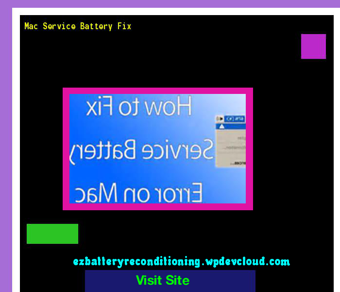 Mac Service Battery Fix 143528 - Recondition Your Old Batteries Back To 100% Of Their Working Condition!