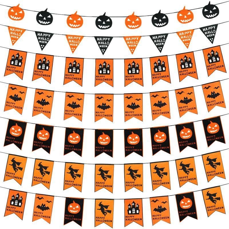 Urijk 1PC Halloween Fabric Hanging Banner Decorations DIY Pumpkin - halloween party decorations cheap