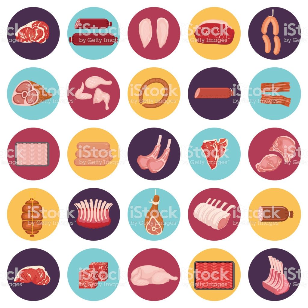 Assorted Meats Icon Set Meat icon, Icon set, Fresh meat