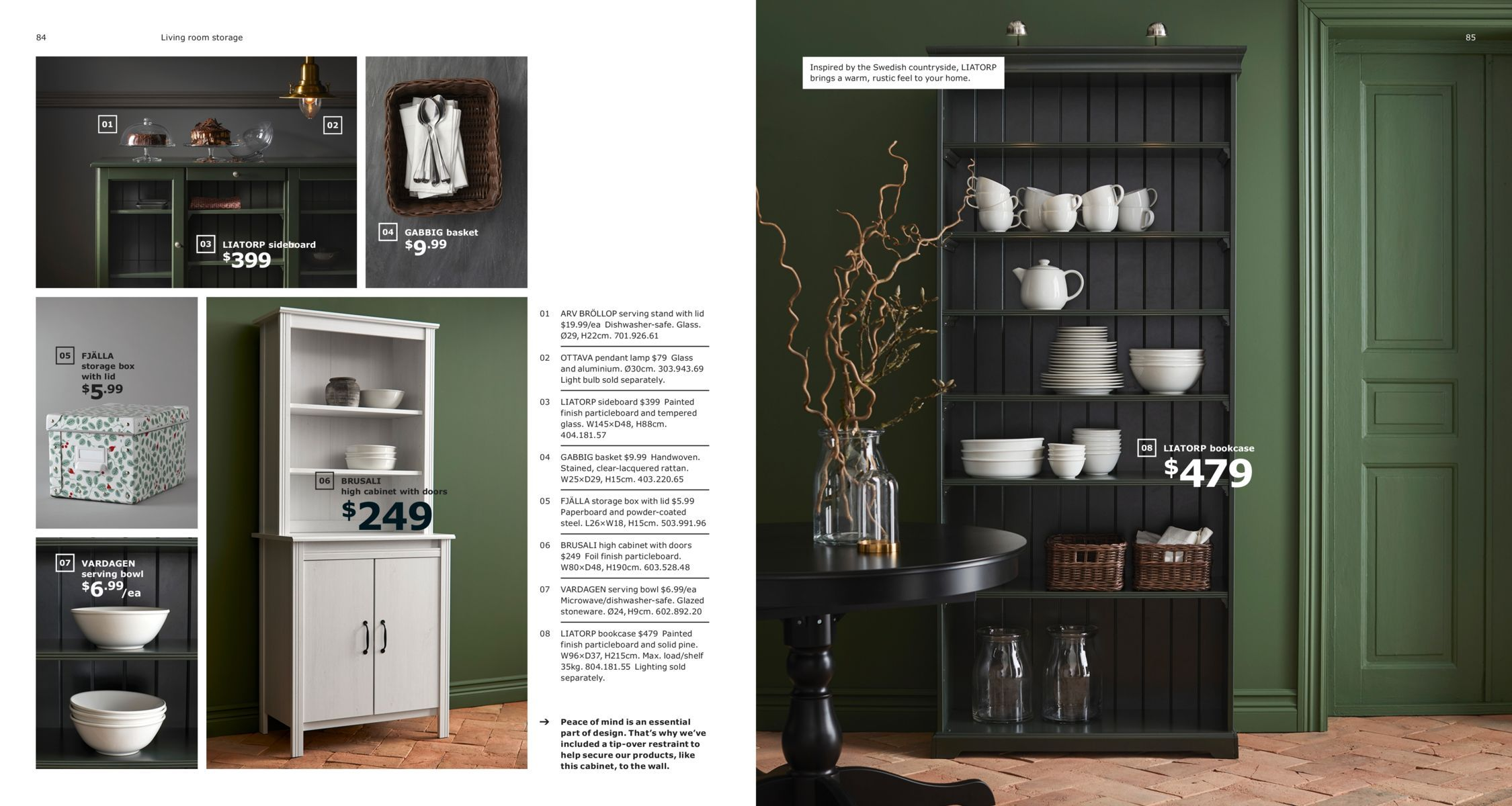 Living room and workspace storage - IKEA Catalogue 2019