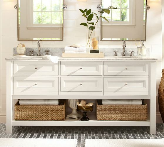 Classic Double Sink Vanity Ndash 72 Quot Pottery Barn Bathroom Vanity Pottery Barn Bathroom Bathroom Design Gallery